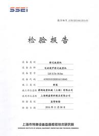 上海精磊检验报告