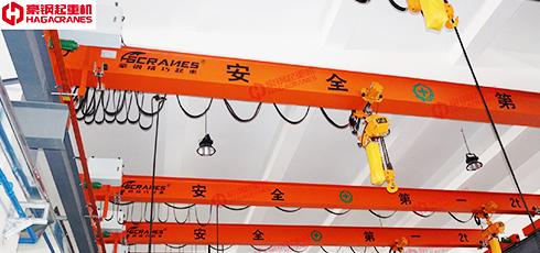 豪钢与上海汉钟合作电动单梁起重机案例