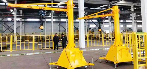 豪钢为佛吉亚汽车配件生产提供移动式悬臂吊案例