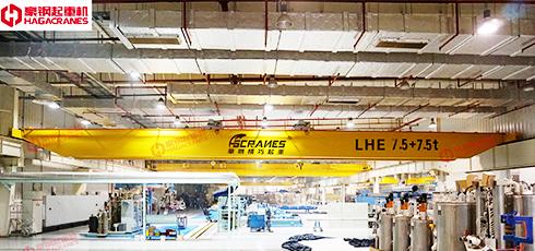 豪钢为上海依工提供双梁起重机案例