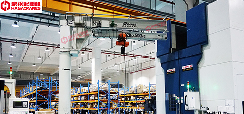 豪钢为富士达提供悬臂伸缩起重机案例