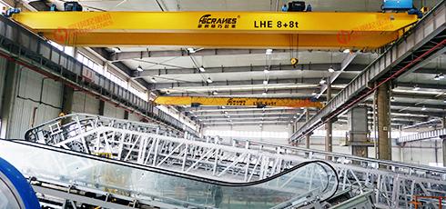 豪钢与永大电梯就双梁起重设备进行合作案例