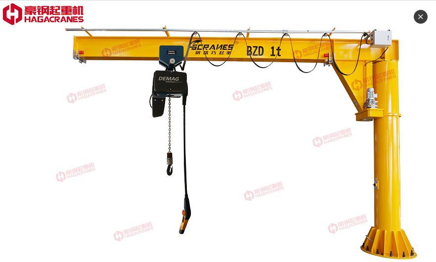 豪钢悬臂吊为上海大众供应生产线悬臂起重机