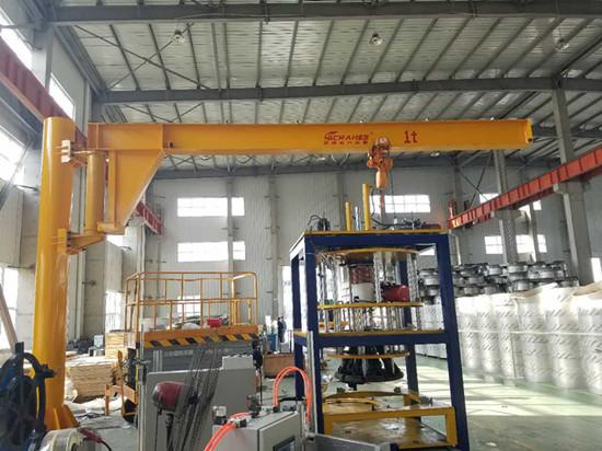 豪钢起重机获大族激光信赖 为其提供1t~8m旋转起重机