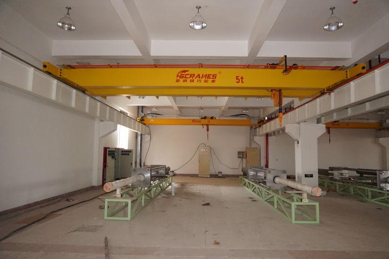 豪钢起重机为上海华特提供双梁起重机一台