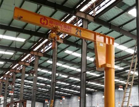 豪钢起重机为宁波安德机械提供悬臂吊