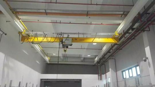 上海交大定购的5t电动单梁起重机调试完成