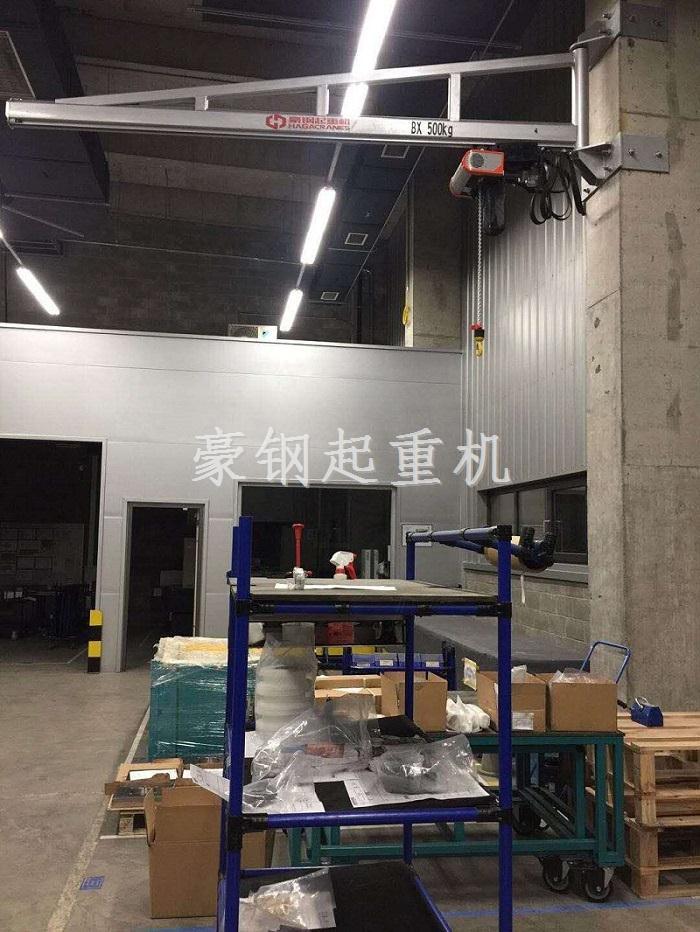 庆祝通快(中国)订购旋臂起重机安装完毕