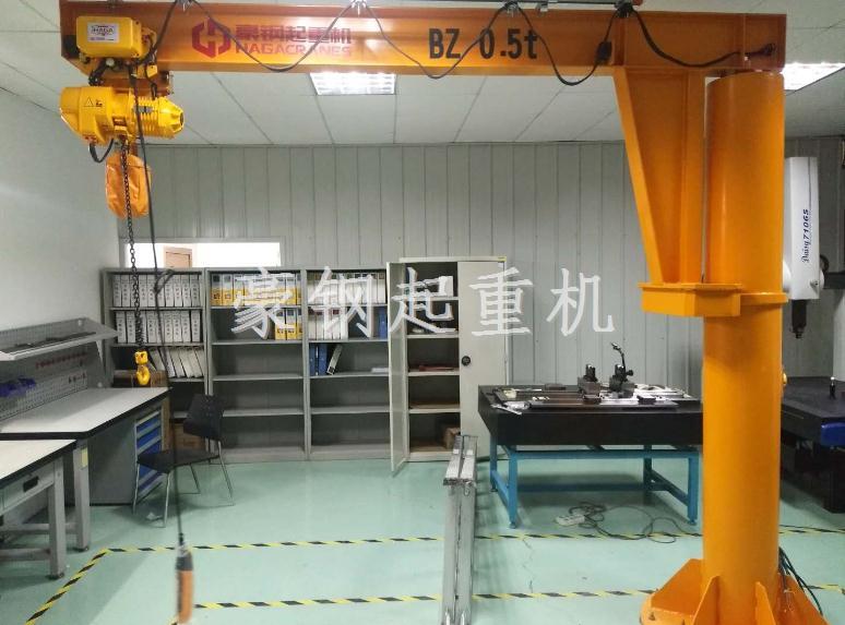 热烈祝贺瑞光公司向豪钢起重机定购0.5t悬臂吊一台