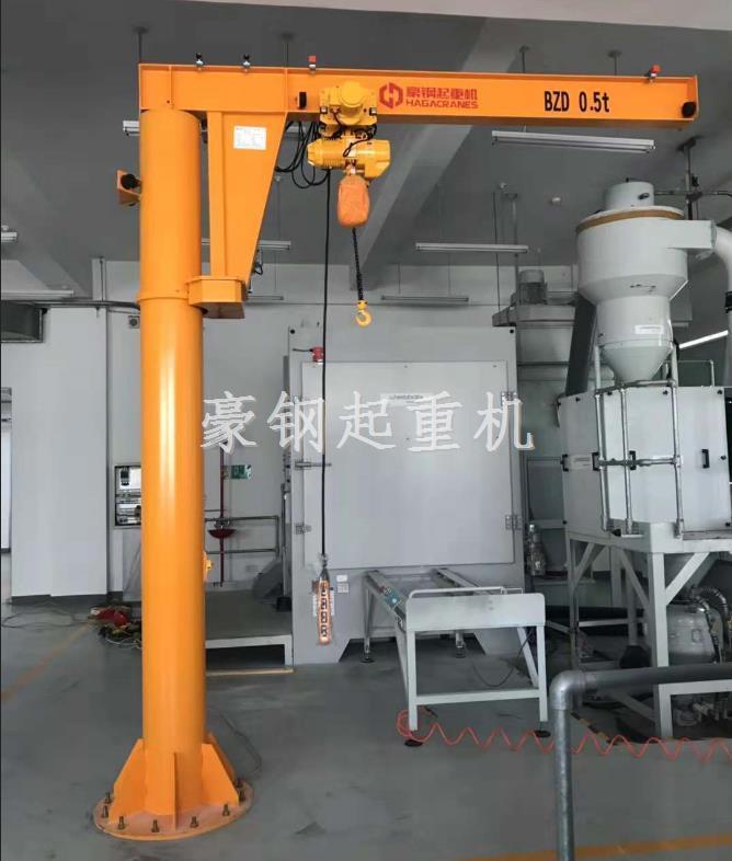 热烈祝贺中国石油管道公司向豪钢起重机定制的旋臂起重机安装调试完成