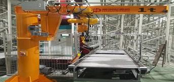 重庆依工汽车零部件定购5台豪钢悬臂吊