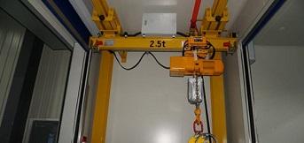 科佩(苏州)定制一台小跨度2.5t悬挂起重机