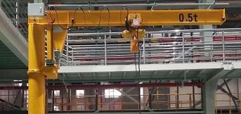 富士达电梯配件定制0.5t悬臂吊已完成调试
