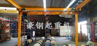 莱尼中国订购1t悬挂单梁起重机安装完成