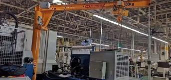 豪钢为中国一汽解放轴齿中心提供800kg旋臂起重机