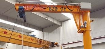 昆山铝业定制豪钢2吨BZD德玛格葫芦悬臂吊