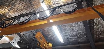 豪钢为上海宜家家居安装两台1吨单梁起重机