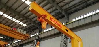 上海电气风电设备河北公司定制5吨悬臂吊调试完成