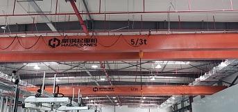 豪钢为美国外资企业上海工厂提供8台5吨双梁桥式起重机
