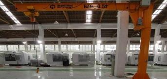 浙江金澳兰机床公司订购两台豪钢0.5吨悬臂起重机