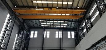 法孚低温设备公司向豪钢定制的20吨欧式双梁起重机