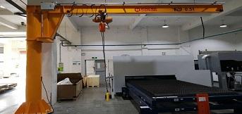 上海鹰峰电子再次向订购豪钢bzd 0.5吨悬臂吊