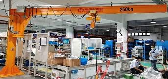 上海某外资企业向豪钢定制bzd 250kg悬臂吊安装完毕
