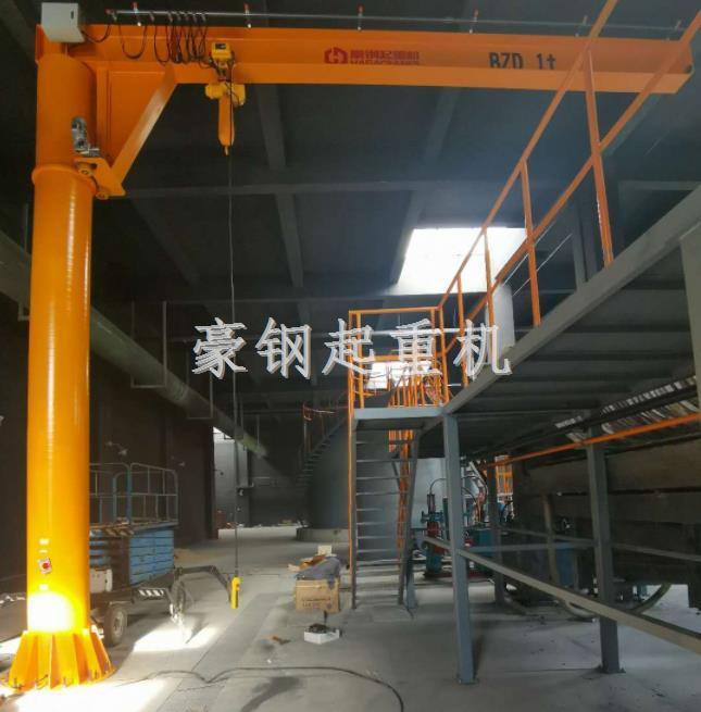 北京环境工程技术公司定制的电动旋转悬臂吊安装调试完成