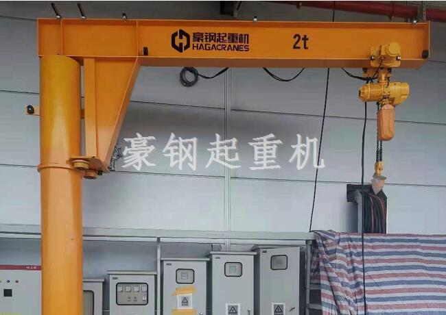 西门子数控(南京)有限公司新工厂车间2吨悬臂吊,安装调试完成